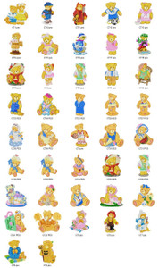2-MANY TEDDYS FOR YOU EMBROIDERY DESIGNS INSTANT DOWNLOAD BEST COLLECTION