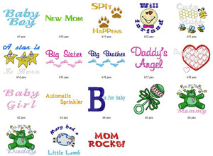 NEW BABY SAYINGS  EMBROIDERY DESIGNS INSTANT DOWNLOAD BEST COLLECTION