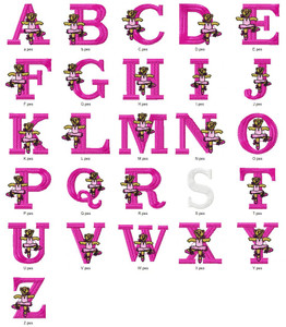 Balarina TEDDY ALPHABETS FONT  EMBROIDERY DESIGNS INSTANT DOWNLOAD HUGE  COLLECTION