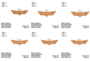 PLANES DISNEY DUSTY EMBROIDERY DESIGNS INSTANT DIGITAL DOWNLOAD 6 SIZES