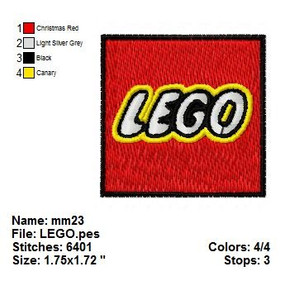 LEGO LOGO TOY EMBROIDERY DESIGNS INSTANT DIGITAL DOWNLOAD