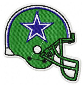 Dallas Cowboys Helmet NFL Sports EMBROIDERY DESIGNS INSTANT DOWNLOAD