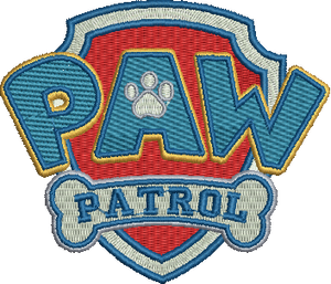Paw Patrol logo Embroidery Designs Instant Download