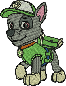 Rocky Paw Patrol Embroidery Designs Cartoon Character Instant Download