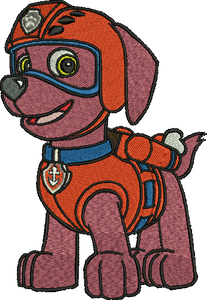 Zuma Paw Patrol Embroidery Designs Cartoon Character Instant Download