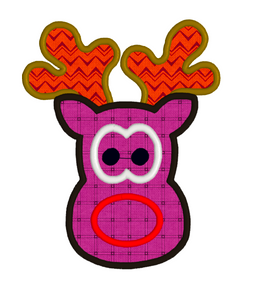 Appliqué Reindeer 3 SIZES Embroidery Machine Patterns Designs Instant Download