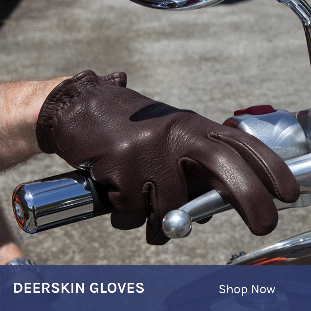 Deerskin Motorcycle Gloves