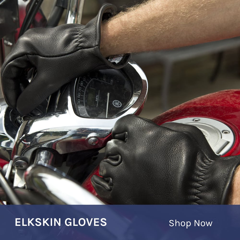 Elkskin Motorcycle Gloves
