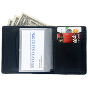 Small Bi-Fold Leather Wallet - card slots