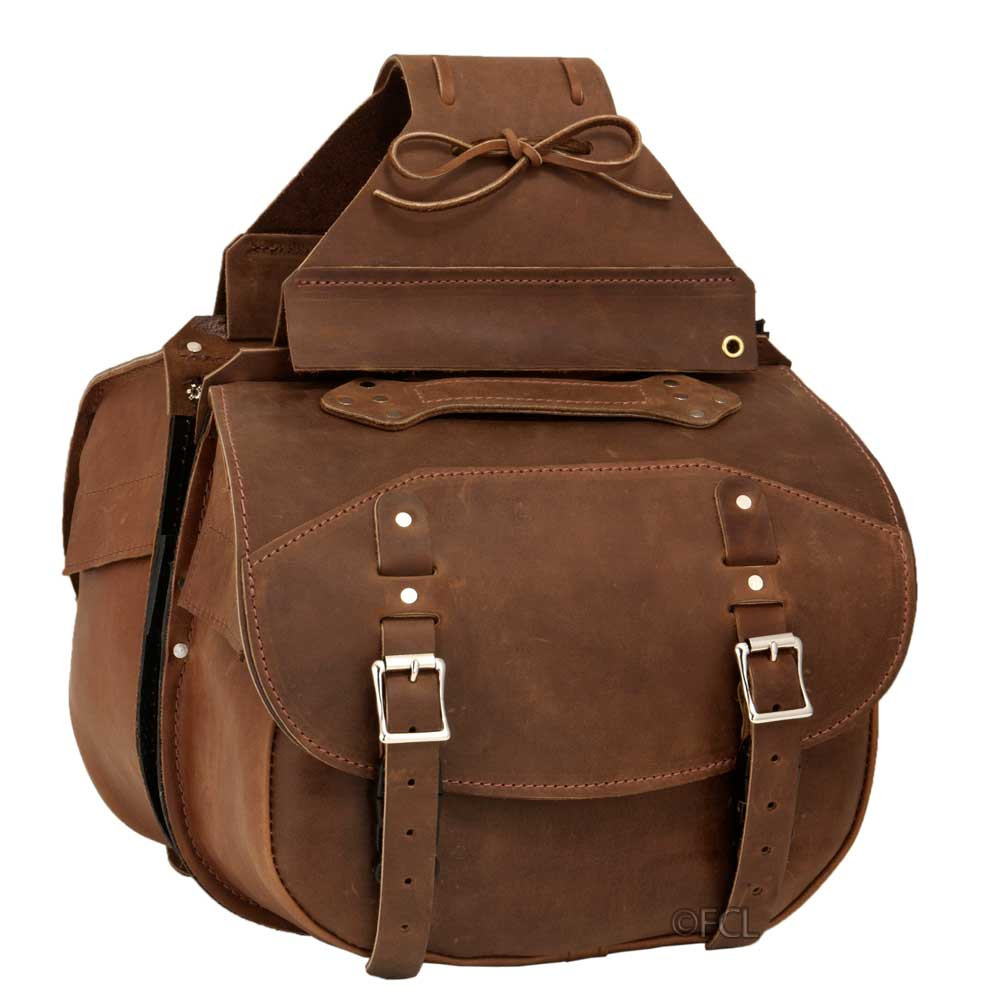 27ac71db8ae3 Deluxe Pony Express Saddlebag - Fox Creek Leather