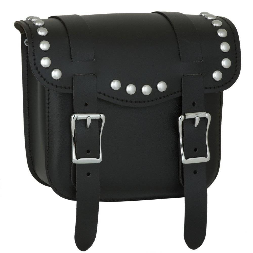 8b80d115f4b2 Front view of the Sissy Bar Bag with studs