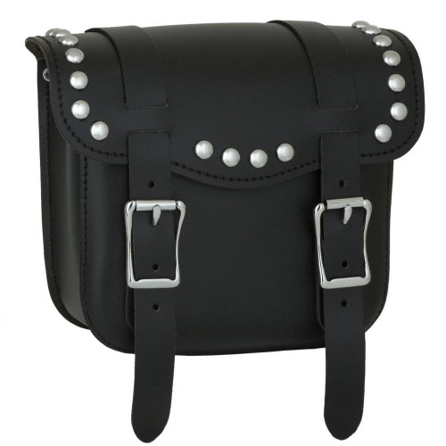 Front view of the Sissy Bar Bag with studs