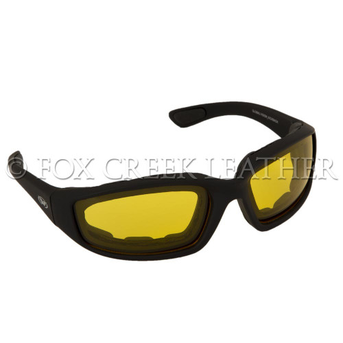 Yellow Tint lenses on the Kickback Sunglasses