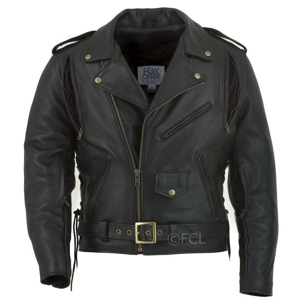 ebb34fdefc7 Men's Classic Motorcycle Jacket I - Fox Creek Leather