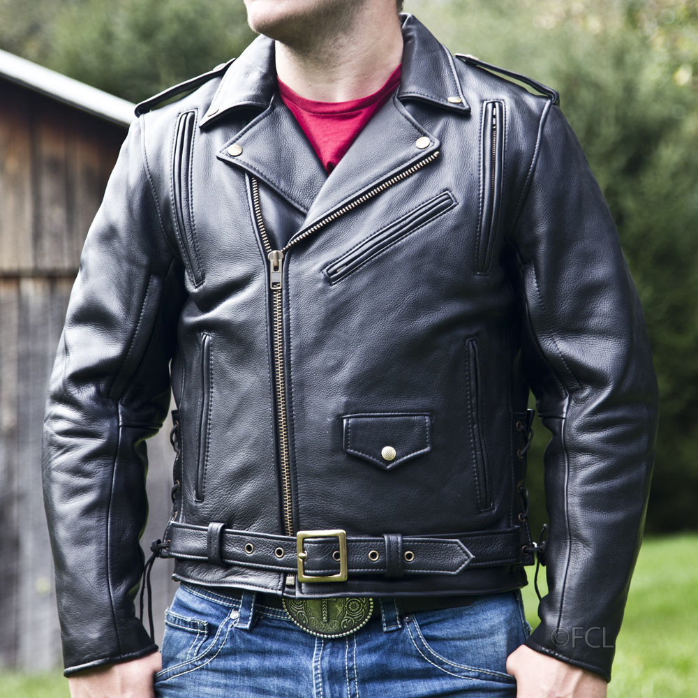 Men S Classic Motorcycle Jacket I Fox Creek Leather