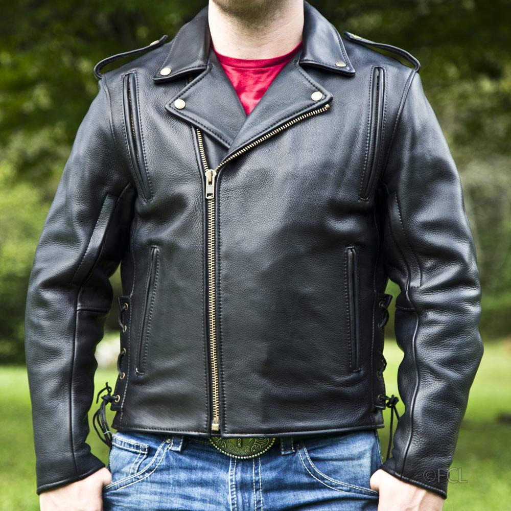 Men S Classic Motorcycle Jacket Ii Fox Creek Leather