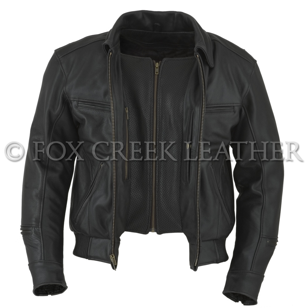 08fdc9f62 Men's Vented Bomber Motorcycle Jacket