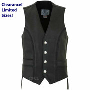 Men's Braided Buffalo Nickel Vest
