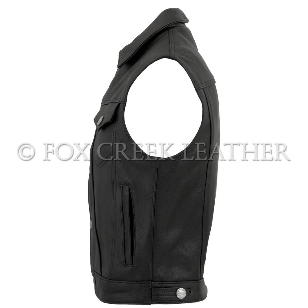 a651661d994 Men s Jean Biker Vest - Fox Creek Leather