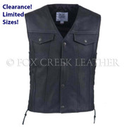 Men's Laced Jean Biker Vest