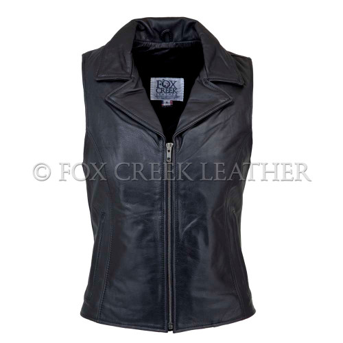 Collared Zipper Vest