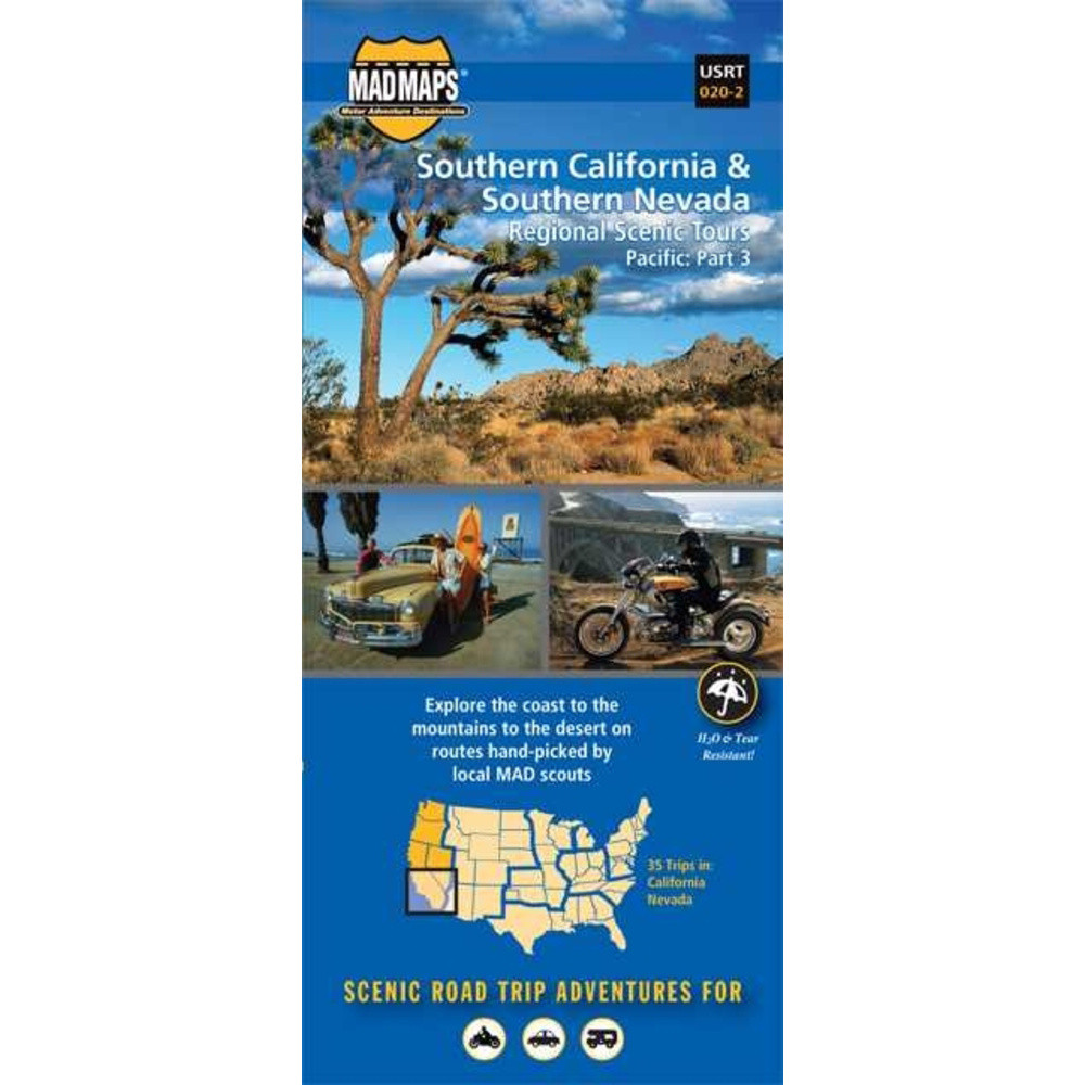 Mad Maps - Fox Creek Leather California Off Road Maps on