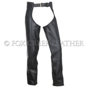 Leather Motorcycle Chaps - Size L (Clearance #43)