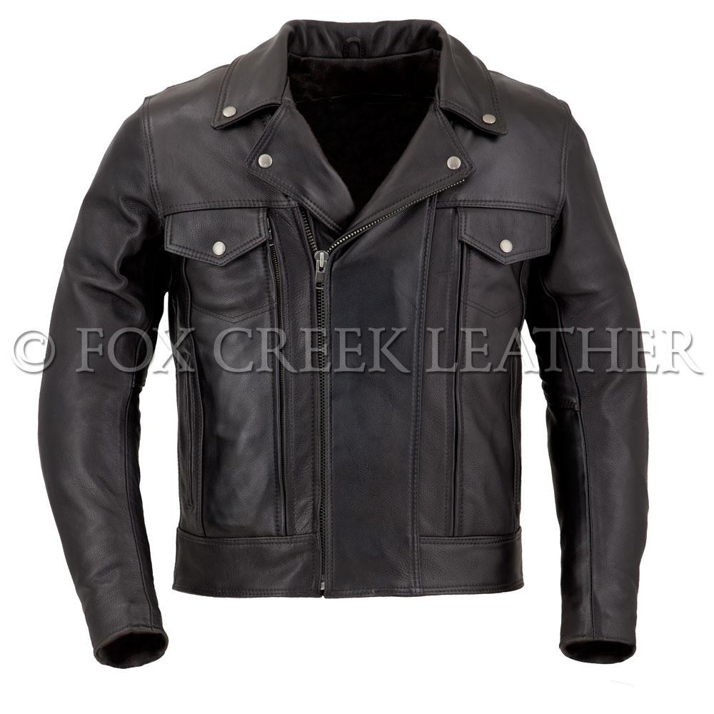 2ca7fec8aa4 Men s Drifter Leather Motorcycle Jacket - Fox Creek Leather