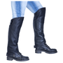 Side view of the Leather Half Chaps in black.