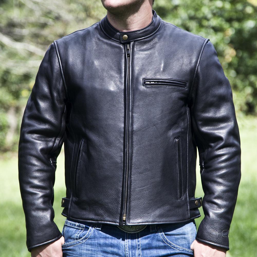 Men S Grayson Motorcycle Jacket Fox Creek Leather