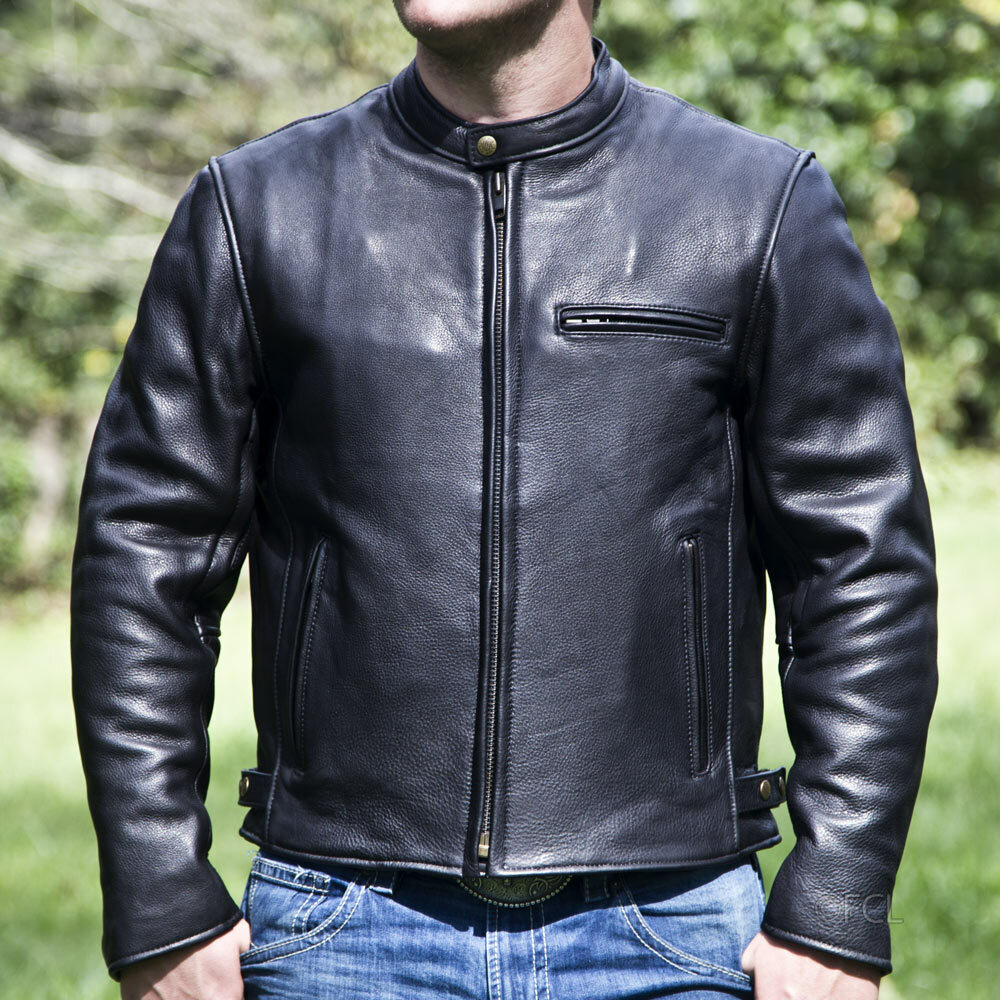 Men S Grayson Motorcycle Jacket Fox Creek Leather
