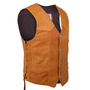 Side view of the leather vest