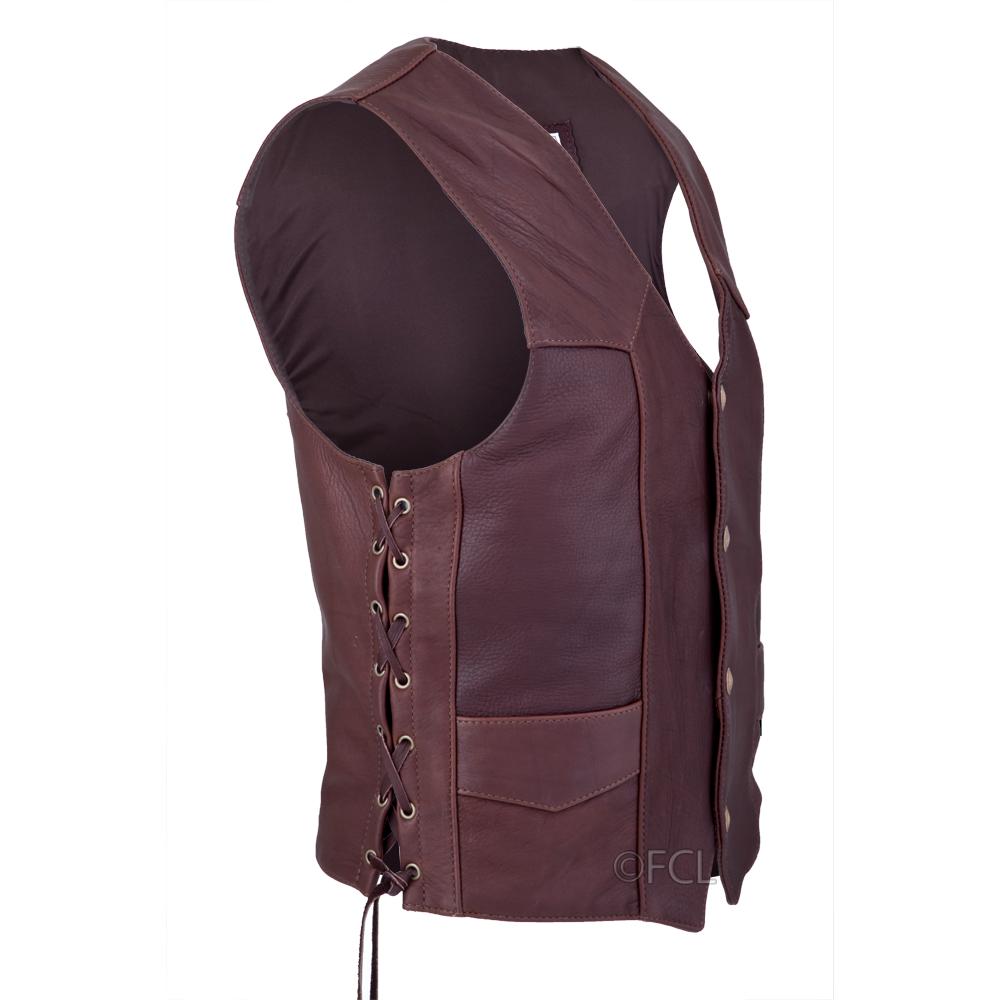 2374fe882 Chocolate Buffalo Classic Vest - Fox Creek Leather