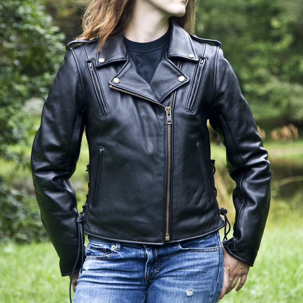 jacket motorcycle classic leather ii womens fox creek