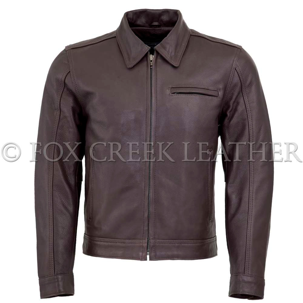 283d555be Men's Brown Vintage Leather Jacket