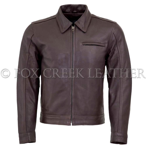 Men's Brown Vintage Leather Jacket
