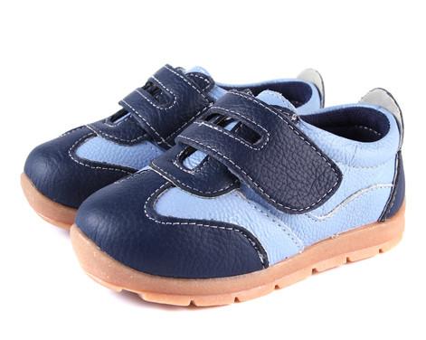 Boys Blue Genuine Leather Sneaker.