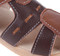 Boys Brown Genuine Leather Sandal stitching.