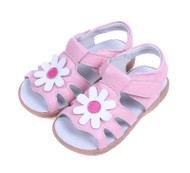 Pink Genuine Leather Sandal.