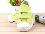 Green Canvas shoe.