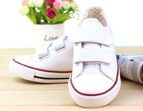 White Canvas shoe.