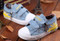 Light Blue Canvas Shoe with Union Jack different angles.