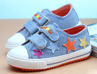 Light Blue Canvas Shoe with Stars.