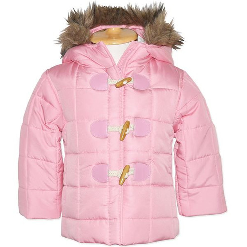 Toddler & Baby Girls Pink Puffer Jacket