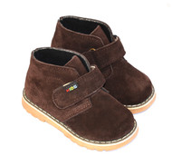 Brown Suede Leather Shoes for Toddler Boys.