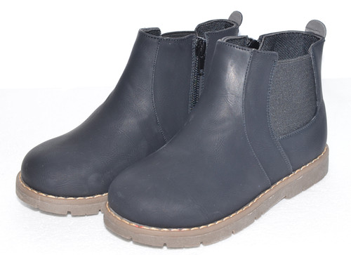 Black High Top Boots for Young Boys.