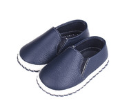 Blue Baby Boat Shoe - left.