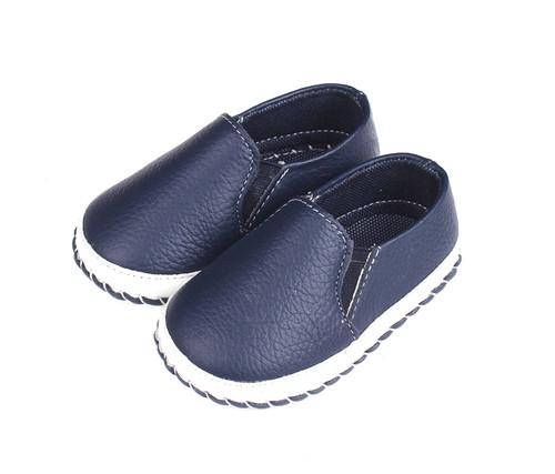 Blue Baby Boat Shoe - left.