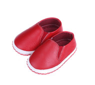 Red Baby Boat Shoe - left.