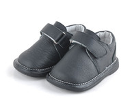 Toddler Boys Black Leather Shoe.